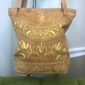 Vintage Bags - *vintage* leather suede bag with boho detailing